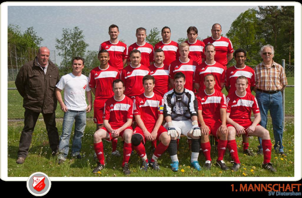 Unsere 1. Mannschaft des SV Dietershan
